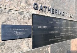 Gathering Place sign